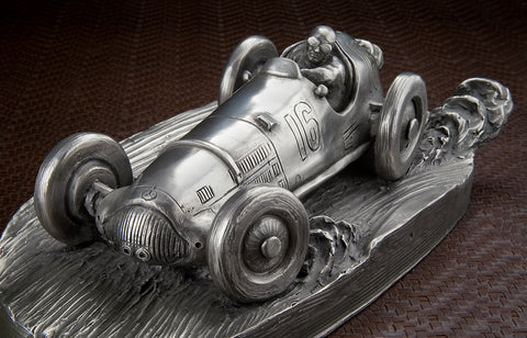 Mercedes Benz W154 Richard Seaman Pewter Sculpture