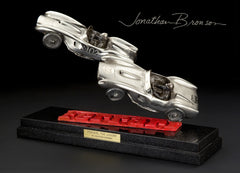 'Ferrari, The Legend' Sculpture by Jonathan Bronson, solid silver