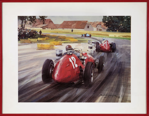 """Silverstone, 1951"", by Michael Turner, 1982"