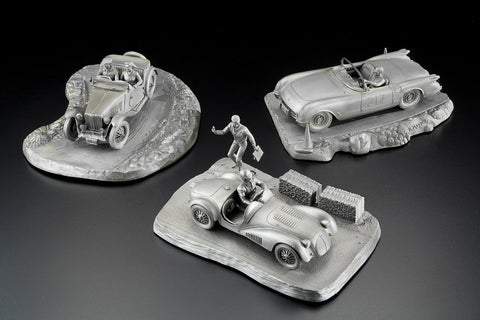 Pewter Tribute To SCCA Sculptures by Franklin Mint
