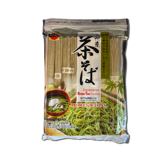 J Basket Japanese Green Tea Noodles - Noble Market