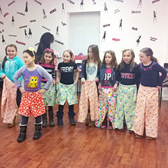 Pajama Pant Making birthday party