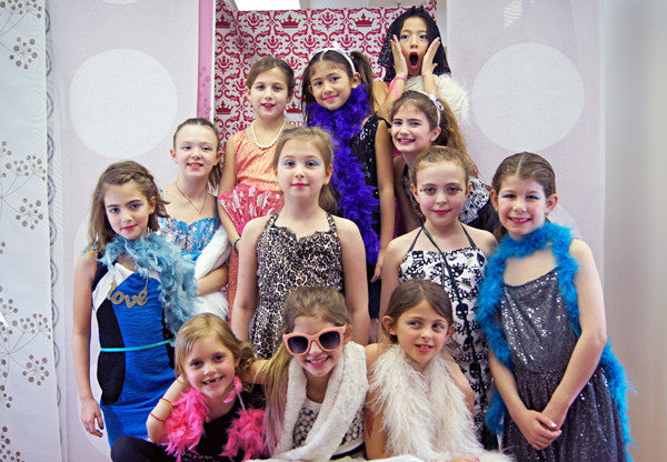 fashion design and runway dress up birthday party for girls in NYC
