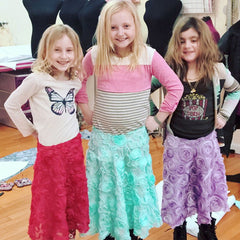 Skirt sewing birthday party for girls in nassau county long island