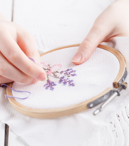 Thurs 4/23 4:45PM Basic Embroidery via Zoom - Ages 8+