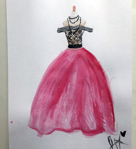 Virtual Birthday Designing Eveningwear via Zoom