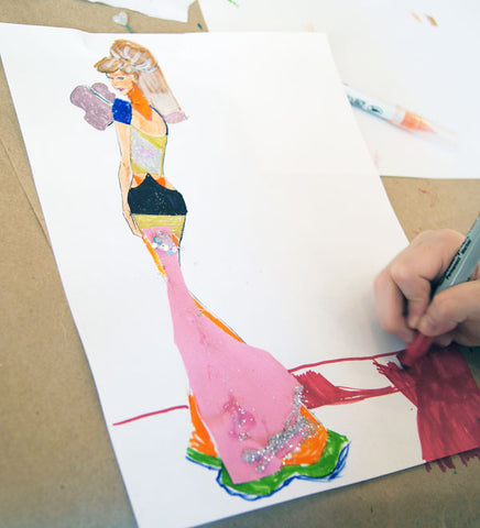Eveningwear Fashion Illustration for Kids - Midtown