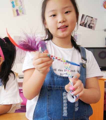 Mon 5/18 4PM Craft a Fancy Feather Pen via Zoom - Ages 6+
