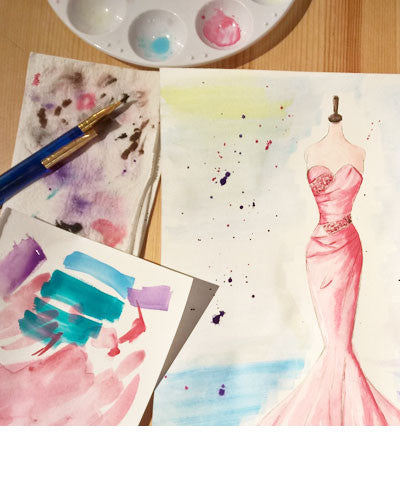 Sip & Sketch: Watercolor Fashion Illustration for Adults