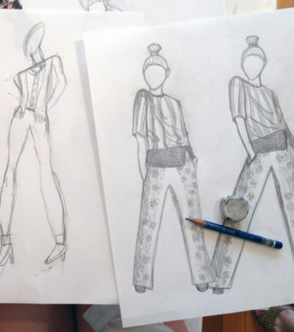 Fashion Illustration: One Hour Private Fashion Design Lesson via Zoom