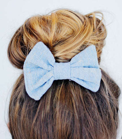 Sew a Hair Bow or Bow Tie: One Hour Private Machine Sewing Lesson via Zoom