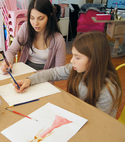 Wed 5/27 4:30PM Illustration: How to Draw the Fashion Figure via Zoom - Ages 8+