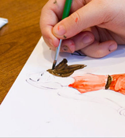 Wed 5/20 4:30PM Fashion Illustration with Watercolor via Zoom - Kids