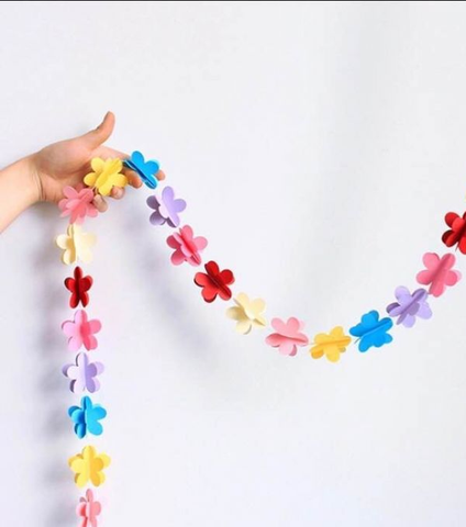 Thurs 4/9 2PM Create Paper Flower Garland via Zoom - Kids