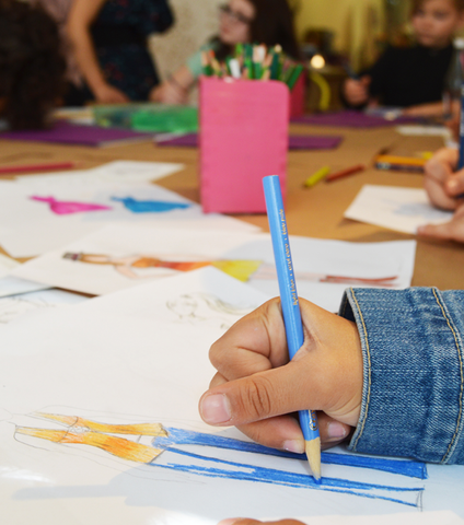 Wed 6/10 4:30PM Illustration: Sketch Fashion with Pencils and Markers via Zoom - Ages 8+
