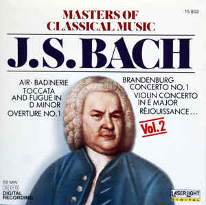 J.S. Bach* ‎– Masters Of Classical Music, Vol.2: J.S. Bach (1988)