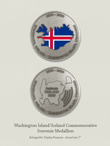 Washington Island/Iceland Commemorative Souvenir Medallion