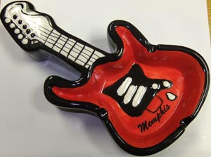 Memphis Ashtray 3D Guitar Shape