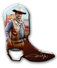 John Wayne Bottle Opener Boot Magnet