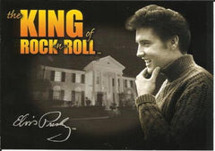 Elvis Postcard King of Rock and Roll