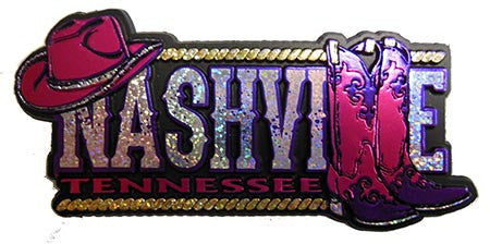 Nashville Magnet Metallic Hat & Boot
