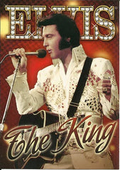 Elvis Postcard The King Red Background