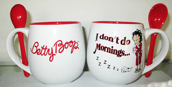 Betty Boop Mug w/Spoon I Don\'t Do Mornings.... | Mid-South Products