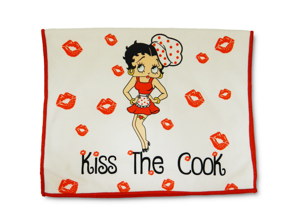 Betty Boop Kitchen Towel Kiss The Cook