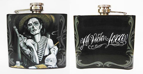 David Gonzales Art Flask Mi Vida Loca -