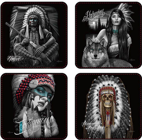 David Gonzales Art Coasters Native -