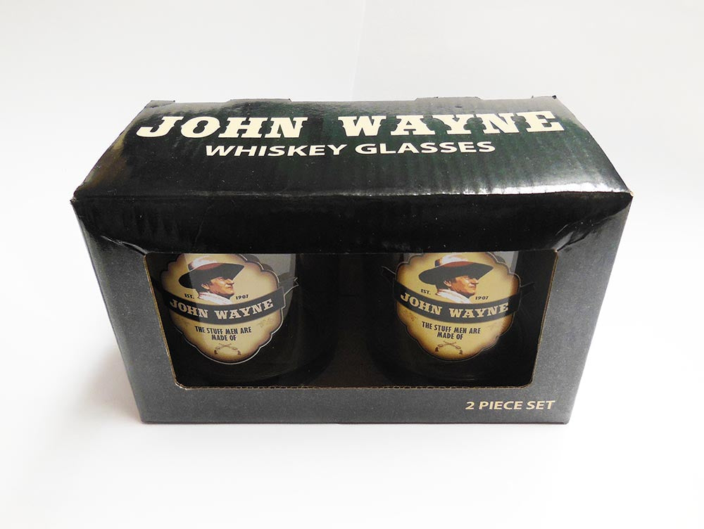John Wayne Glass Boxed - Set  2/PC