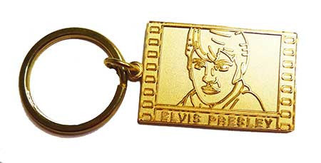 Elvis Key Chain Film Embossed