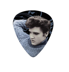 Elvis Guitar Pick Blue Sweater