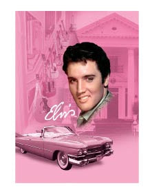 Elvis Magnet Pink w/Guitars