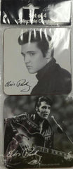 Elvis Coasters Blk & Wht. Set/4  Diff.
