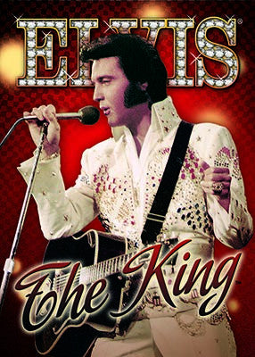 Elvis Magnet The King Red Background