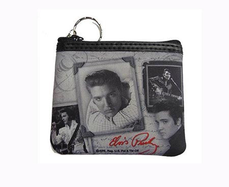 Elvis Key Chain Coin Purse Frames w/Letter