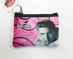 Elvis Key Chain Coin Purse Love Me Tender