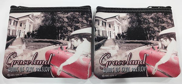Elvis Key Chain Coin Purse In Car/ Graceland