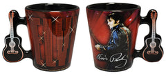 Elvis Shot Glass 68 Name In Lights w/ Handle