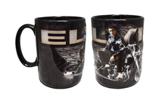 Elvis Mug Motorcycle w/Wings Embossed