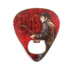 Elvis Bottle Opener Magnet Guitar Pick '68 Name