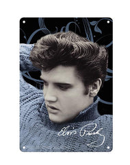 Elvis Sign Blue Sweater