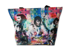 Elvis Tote Bag Colorful Collage
