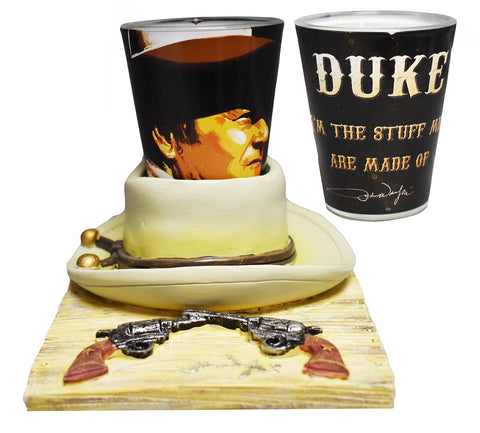 John Wayne Shot Glass w/ Hat Base