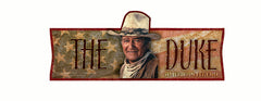 John Wayne Metal Sign The Duke- Pack of 4-