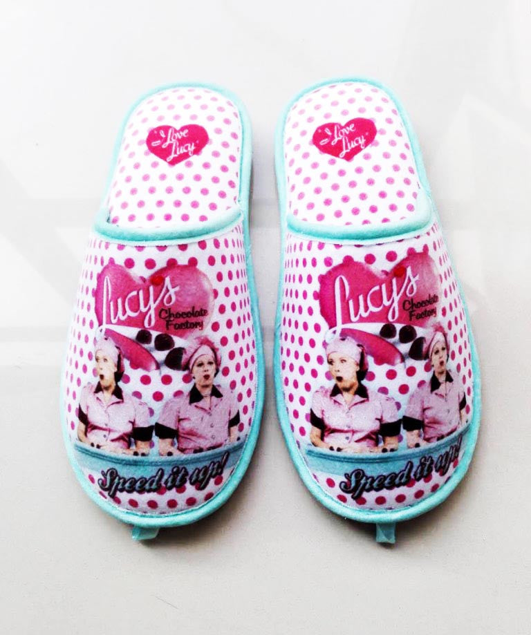 Lucy Slippers Chocolate Factory Polka Dots