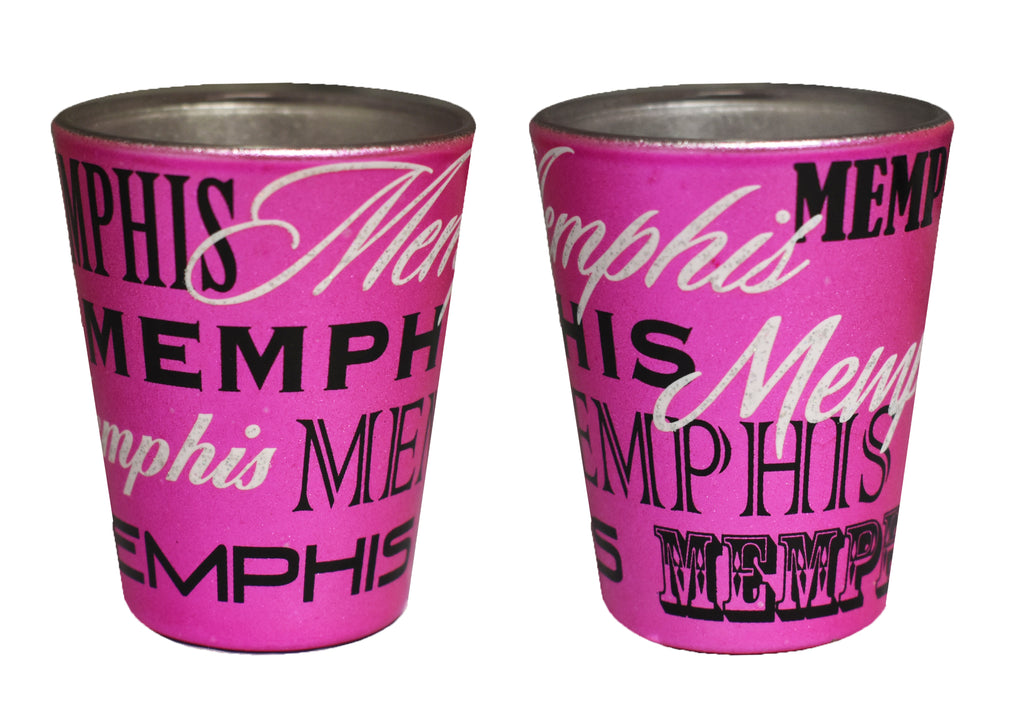 Memphis Shot Glass Metallic Pink