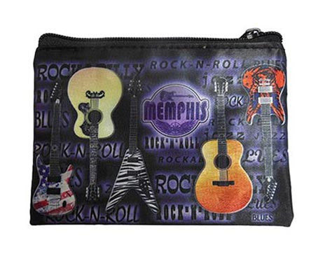 Memphis Make Up Bag Metallic w/Guitars