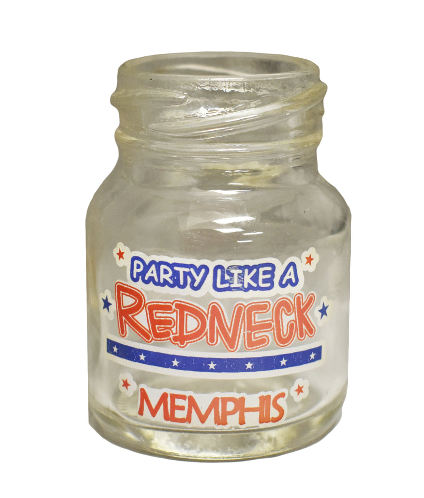 Memphis Shot Glass Mason Jar Redneck